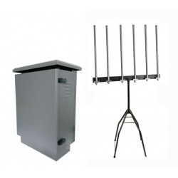 ✅ Outdoor Drone 6 Bands 525W PLC Software power control Jammer up to 4km
