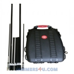 5 Antenna 95W Man Pack VHF UHF 3G Jammer up to 100m